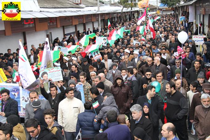 راهپیمایی باشکوه ۲۲ بهمن در آمل – گزارش تصویری