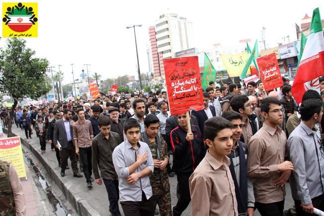 راهپیمایی ضد استکباری یوم الله ۱۳ آبان در آمل – تصویری